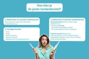 Infographic juiste tandenborstel